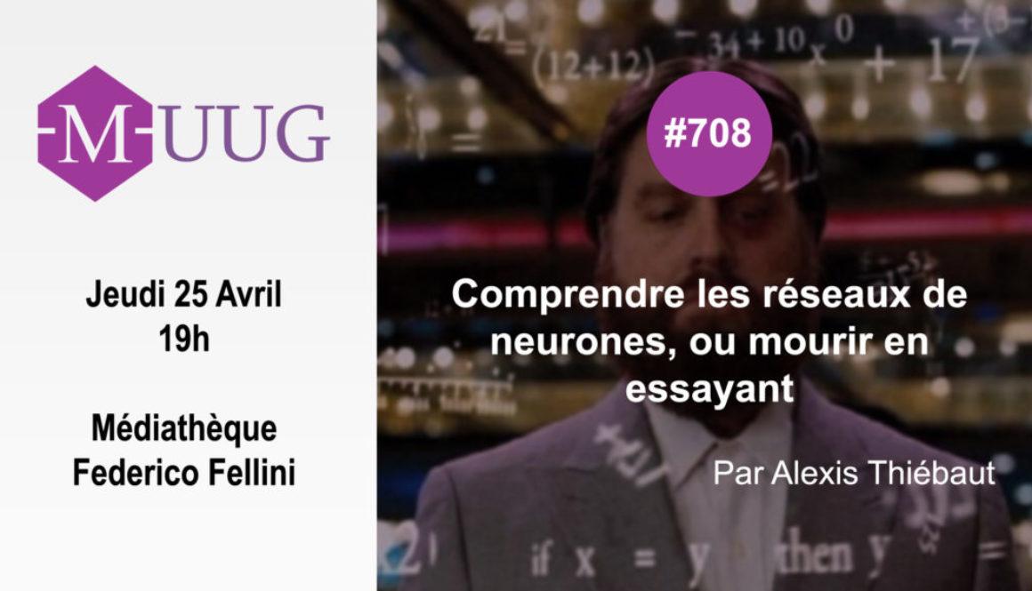 MUUG708 - Réseaux de neurones